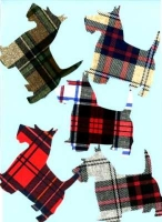 Die Cut Scottie Dogs Applique (with bond)